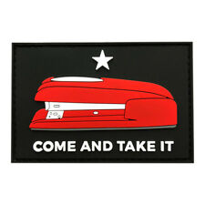 Come and Take It Red Stapler Hook Patch (3D-PVC Rubber-Z6) 3.0 X 2.0