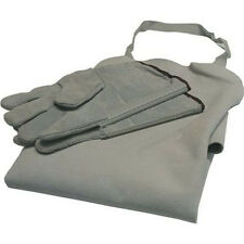 Leather Gloves and Apron Set for Welding