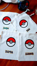"""Personalized Pokemon Goodie Natural Cotton Bag Perfect for Trading Cards 5""""x7"""""""