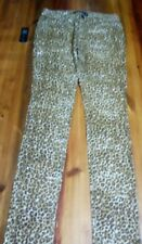 Brand New with Tags Kardashian Kollection Ladies Leopard Print Jeans Size 12