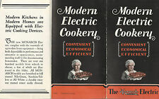 Monarch Electric Stove Vintage Illustrated Advertising Brochure Electric Cookery