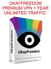 Okayfreedom Premium VPN 1 YEAR UNLIMITED TRAFFIC License key