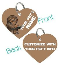 Chewbacca | Star Wars 2-Sided Pet Id Dog & Cat Tag Personalized For Your Pet