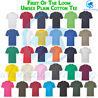 FOTL Mens Womens T Shirt Short Sleeve Unisex Cotton Plain Ladies Casual Tee