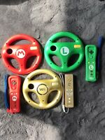 Lot Of 3 NINTENDO WII REMOTE MOTION PLUS MARIO AND LUIGI AND ZELDACONTROLLERS