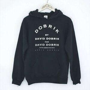 David Dobrik Pullover Hoodie Mens Small Black Sweatshirt Discontinued Merch