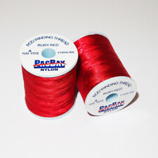 2 X Pac Bay Nylon Rod Winding Thread Grade A 100yd for Rod Building  / Ruby Red