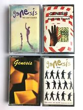 GENESIS x 4 : WAY WE WALK, WE CAN'T DANCE, GENESIS, INVISIBLE TOUCH - Cassettes