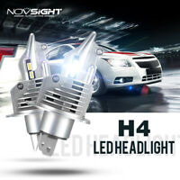 NOVSIGHT H4 9003 HB2 P43t LED Headlight Kit Bulbs Hi/Lo Beam 10000LM/Set Upgrade
