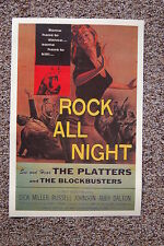 Rock All Night Lobby Card Movie Poster The Platters The Blockbusters