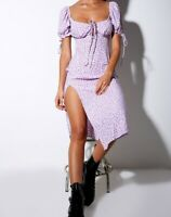 CELLO MIDI DRESS IN DITSY ROSE LILAC By Motel Size M