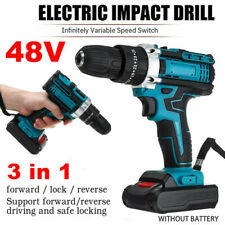 48V 1500 RPM  Electric Hammer Drill Cordless 28N.m LED Light Screwdriver Tool