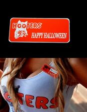 Hooters Girl Uniform Happy Halloween Name Tag Costume Accessory Pin Badge