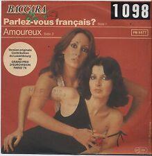"BACCARA - Parlez-vous francais? - VINYL 7"" 45 ITALY 1978 VG+ COVER VG- CONDITION"
