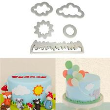 5x Grass Sun Cloud Icing Cutter Fondant Mould Cake Decorating Cookie Mold DIY
