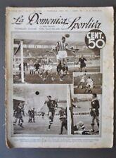 Settimanale  Domenica Sportiva Calcio Campionati Hockey Littoriali Cortina 1934