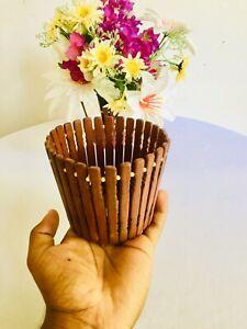 Unique Wooden Vintage Flower Vase Centerpiece Home Décor Decorative Floral Vases