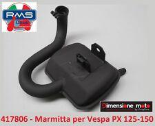 """417806 - Marmitta """"RMS"""" Tipo Originale per Piaggio Vespa PX 150 E dal 1978"""