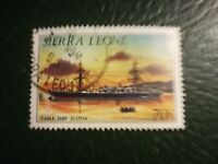 N°145 - 1 timbres sierra léone cable ship scottia