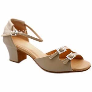 TPS High Quality Flesh Leather Latin Ballroom Custom-made Dance Shoes D1212