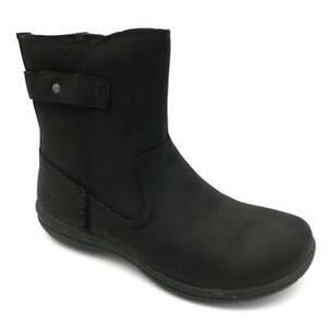 Merrell Womens Encore Kassie Boots Black Low Shaft Side Zipper Waterproof 6M New