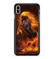 Fire Covered Majestic Lush Spectacular Dark Volcanic Horse 2D Phone Case Cover