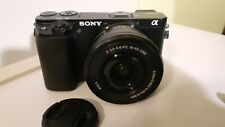 Sony alpha a6100 mirrorless camera with 16-55mm lens 4K video.