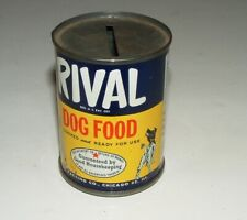 New Listing1950s Rival Dog Food Coin Bank