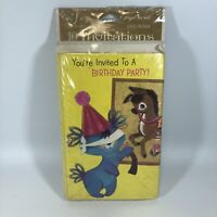 Vtg American Greetings Forget Me Not Birthday Invitations Pin The Tail On...