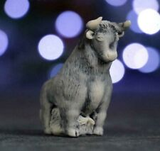 marble sculpture bull figurine symbol of the year 2021 miniature 2 inch