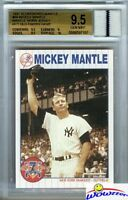 1997 Scoreboard #66 Mickey Mantle YANKEES WORN JERSEY BGS 9.5 GEM MINT GGUM