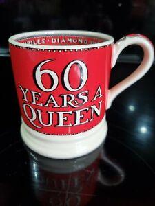 Emma Bridgewater Half Pint Mug - Red 60 Years A Queen Diamond Jubilee - New
