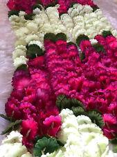 Floral Wedding Mehndi Sangeet Pink White Garland Home Decor Toran