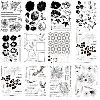 6x8inchBlume Blatt Silikon Stempel Für Scrapbooking Album Foto DIY Handwerk Deko