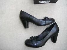 Jones Bindal ladies new leather shoes black unusual heel boxed 37/4