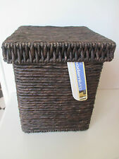 Modern Living Wicker Basket - Monsoon Lidded Box - Cocoa - Small