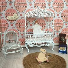 New ListingDollhouse Furniture And Accessories Lot 1:12 Nursery