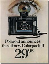 1969 Eye in viewfinder, Polaroid Colorpack II point and shoot camera print-ad