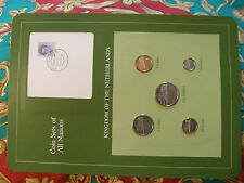 Coin Sets of All Nations Netherlands w/card 1983  - 1984 UNC 70ct STAMP