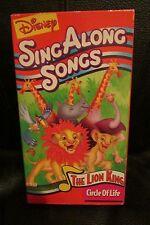 DISNEY'S SING ALONG SONGS THE LION KING CIRCLE OF LIFE VHS  RARE FREE SHIPPING