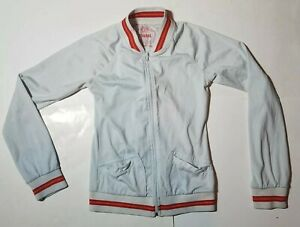 FOSSIL branded Designer Track Jacket Zipper Coat Youth Apparel Size Small