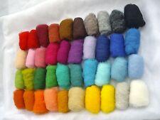 100% natural New Zealand sheep wool for felting, 40 color's set 160 gr / 5.64 oz