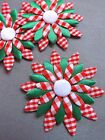 Big APPLIQUES  flowers satin cotton  sewing cardmaking crafts Christmas decor
