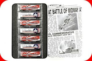 N Scale USN US NAVY Battle of Midway 7 Carrier Box Car Set MICRO TRAINS 99321080