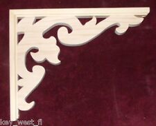 """Victorian Wood Gingerbread {16"""" x 12""""} Porch & House Trim Bracket #10 ~ by  PLD"""