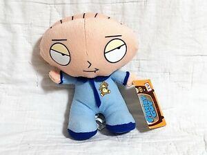"NANCO Family Guy Baby STEWIE GRIFFIN Blue Pajamas 8"" Plush Toy 20th Century Fox"