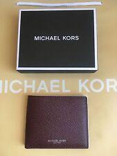 NWT MICHAEL KORS  Harrison Grained-Leather Billfold Wallet