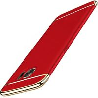 Phone Case Cover For Samsung Galaxy J7 2017 Bumper 3 IN 1 Cover Chrome Red