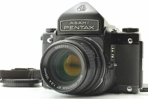 [Near MINT] Pentax 67 Late Eye Level Finder SMC P 105mm f/2.4 Lens From JAPAN
