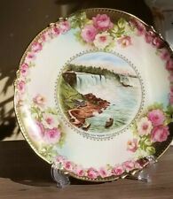 Antique 1905 Niagara Falls Limoges Plate ~Usa and Canadian Falls